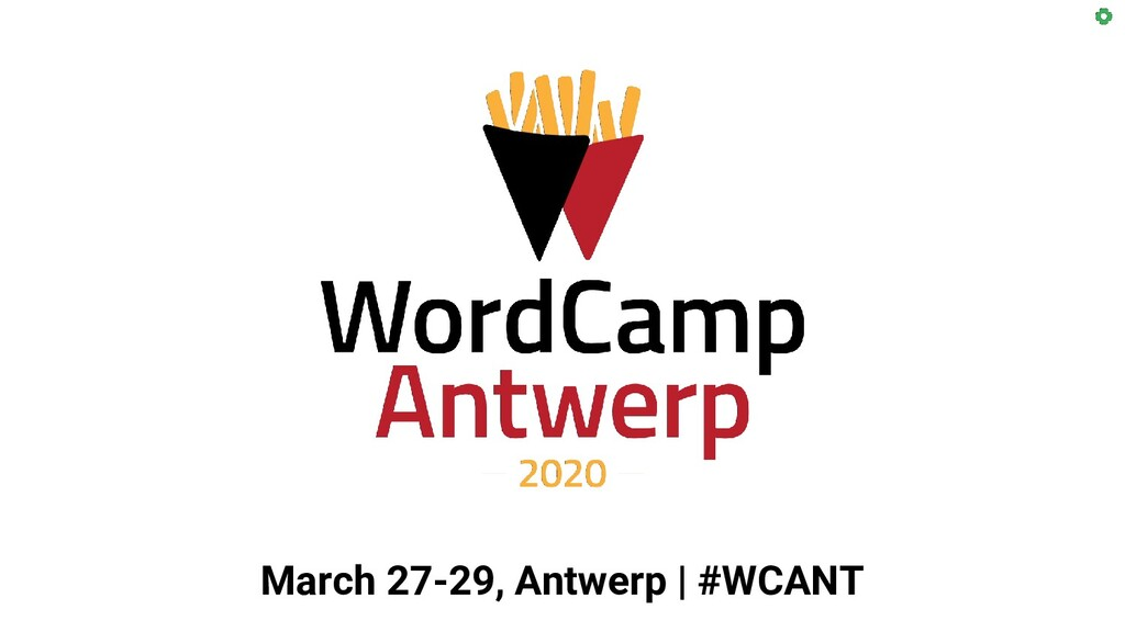 March 27-29, Antwerp   #WCANT