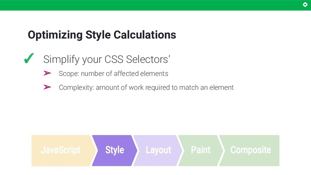 Optimizing Style Calculations ✓ Simplify your C...