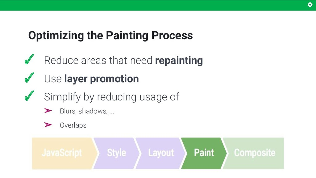 Optimizing the Painting Process ✓ Reduce areas ...