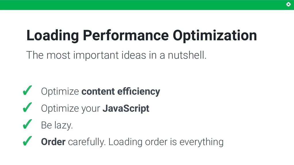 Loading Performance Optimization ✓ Optimize con...