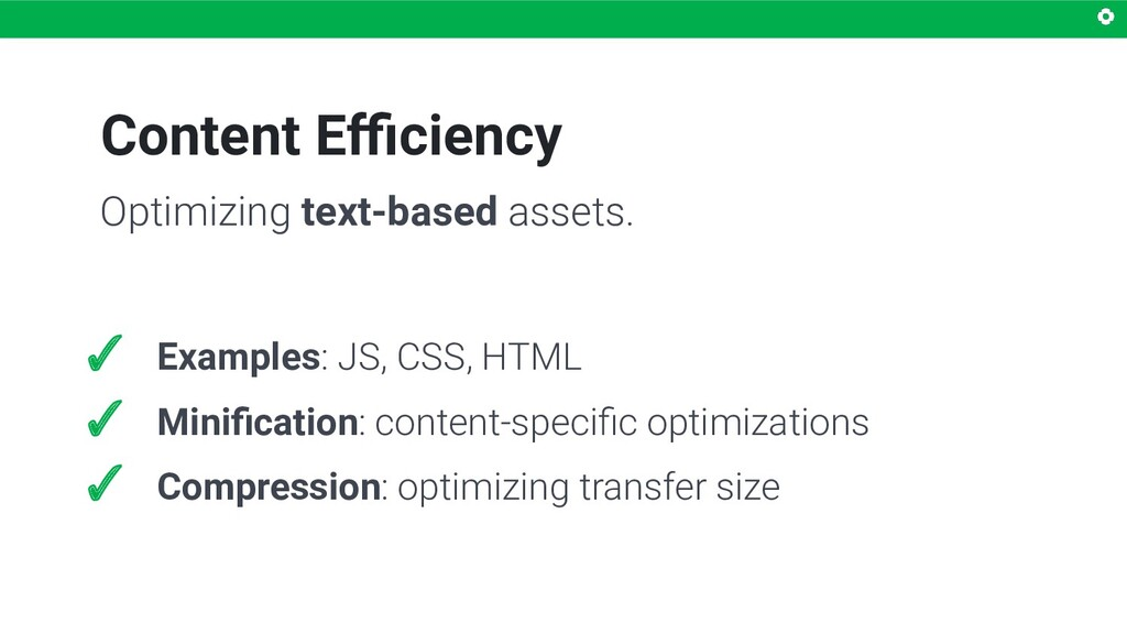 Content Efficiency Optimizing text-based assets. ...