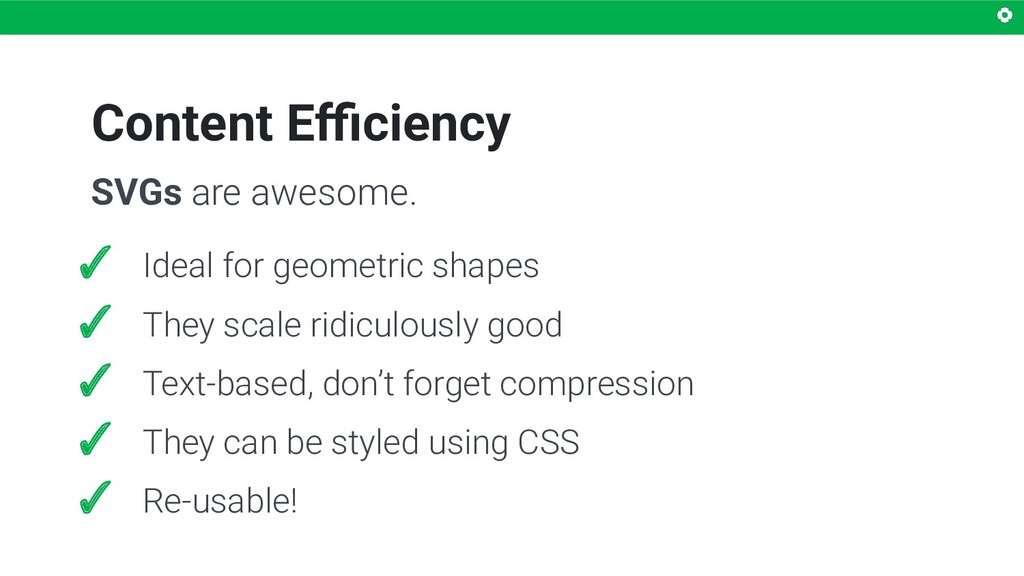 Content Efficiency SVGs are awesome. ✓ Ideal for ...