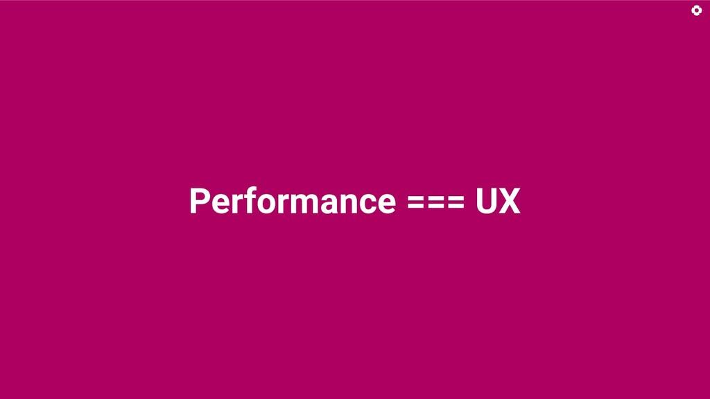 Performance === UX