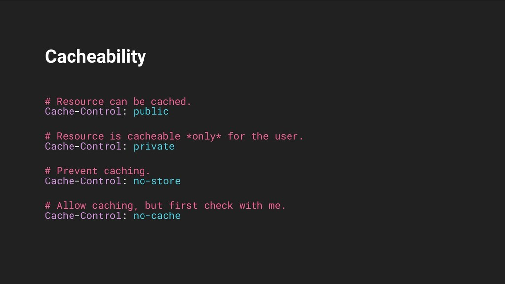 Cacheability Cache-Control: public Cache-Contro...