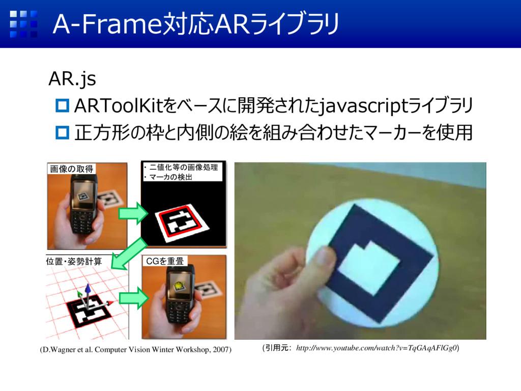 A-Frame対応ARライブラリ AR.js ARToolKitをベースに開発されたjava...