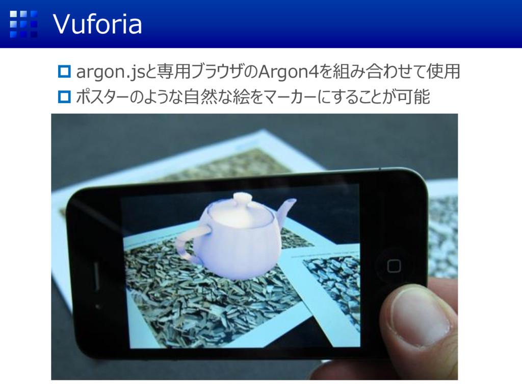 Vuforia  argon.jsと専用ブラウザのArgon4を組み合わせて使用  ポスタ...