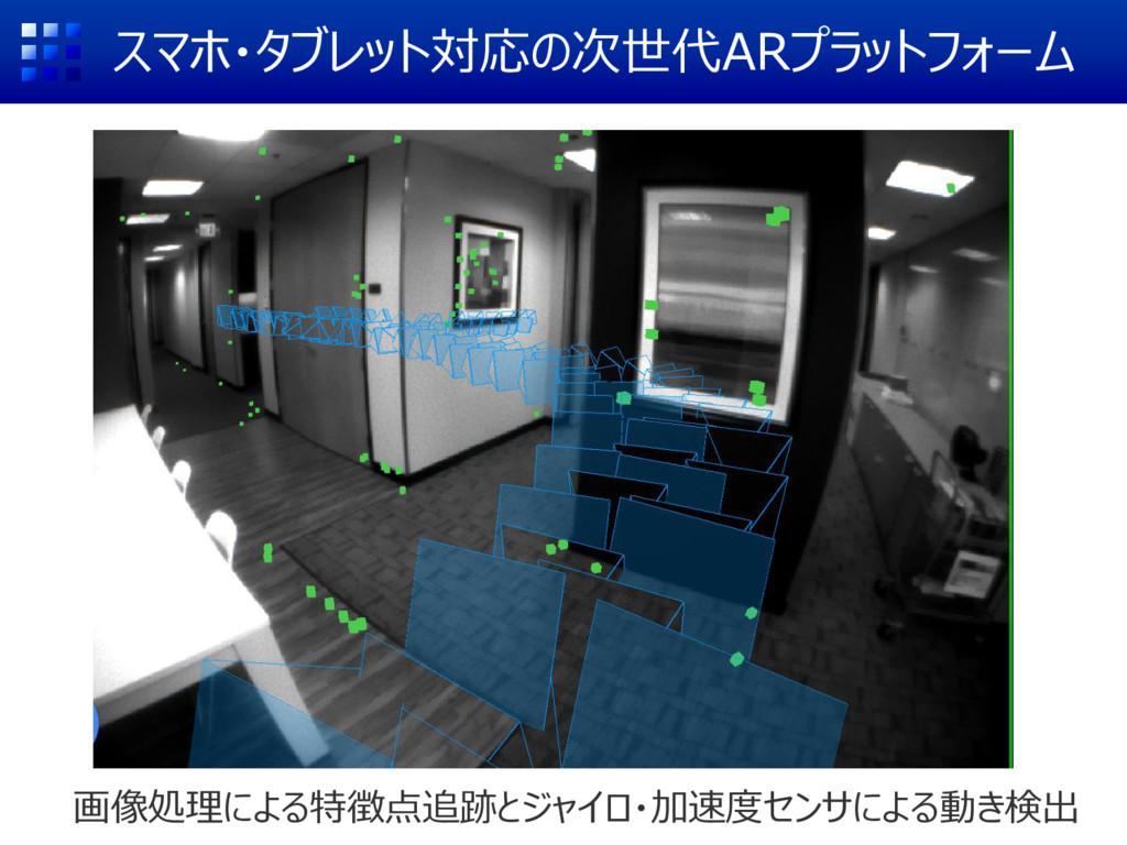 スマホ・タブレット対応の次世代ARプラットフォーム 画像処理による特徴点追跡とジャイロ・加速度...