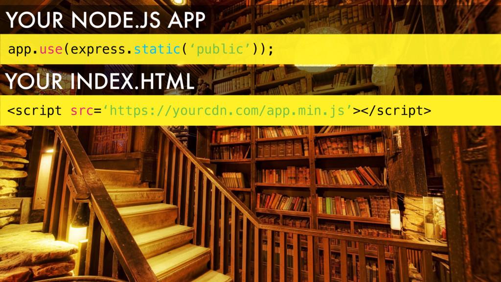app.use(express.static('public')); YOUR NODE.JS...