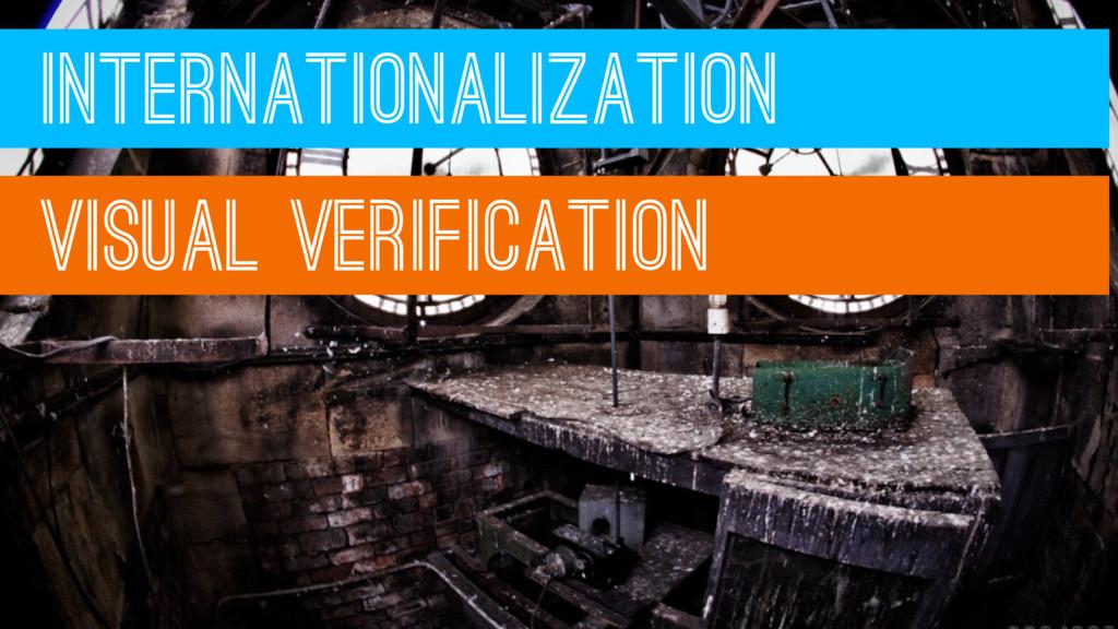 INTERNATIONALIZATION VISUAL VERIFICATION