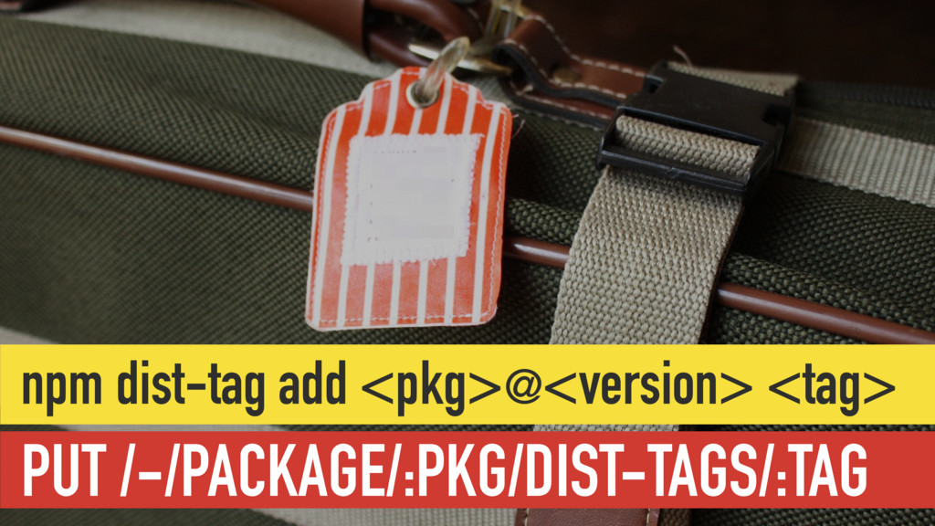 PUT /-/PACKAGE/:PKG/DIST-TAGS/:TAG npm dist-tag...
