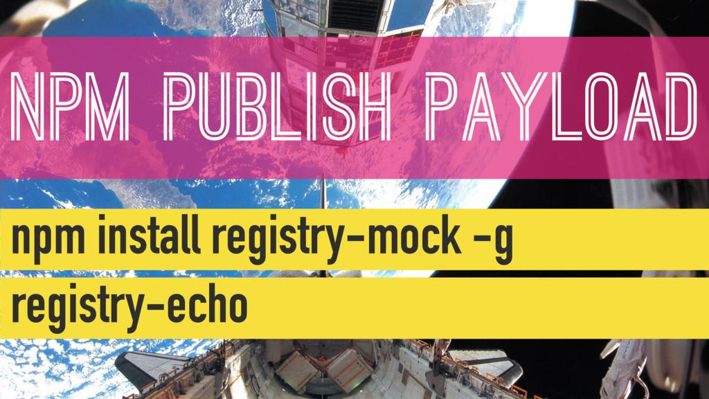 NPM PUBLISH PAYLOAD npm install registry-mock -...