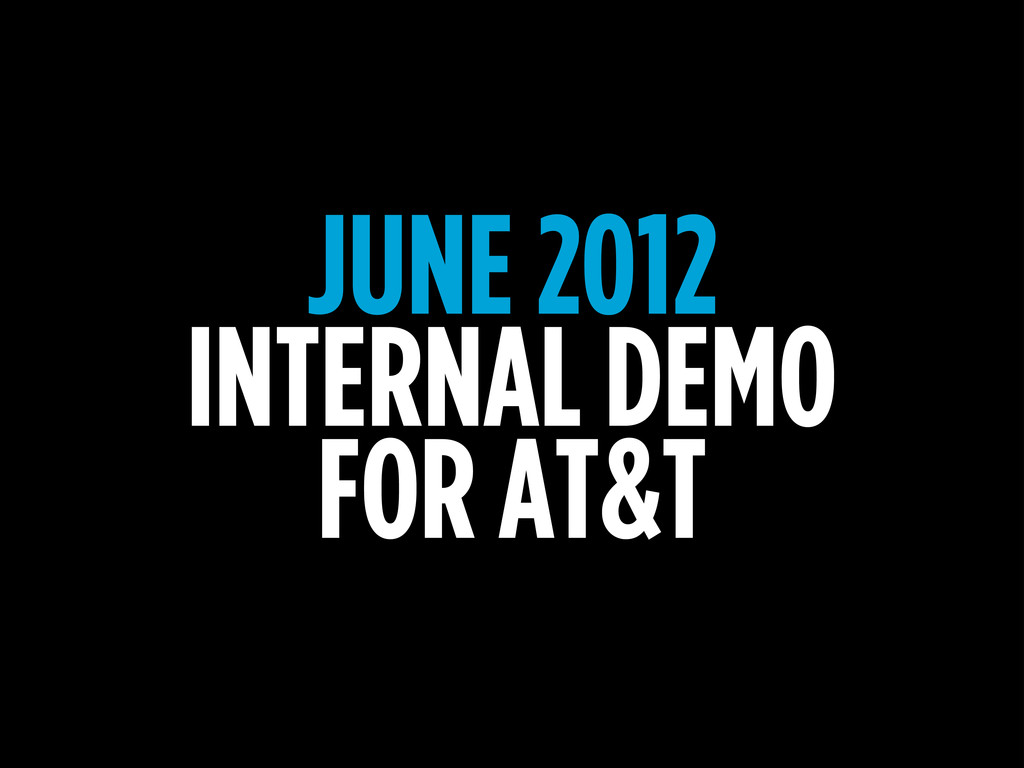 JUNE 2012 INTERNAL DEMO FOR AT&T