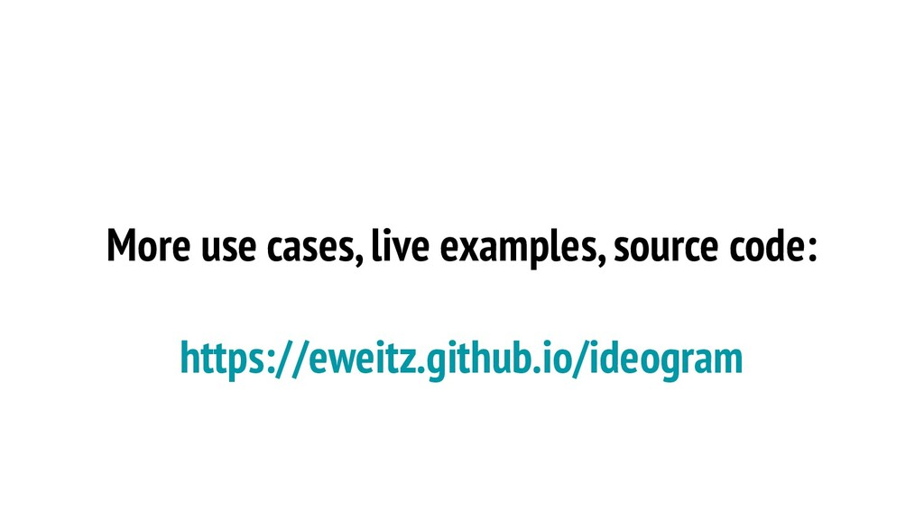More use cases, live examples, source code: htt...