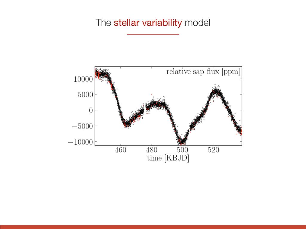 The stellar variability model