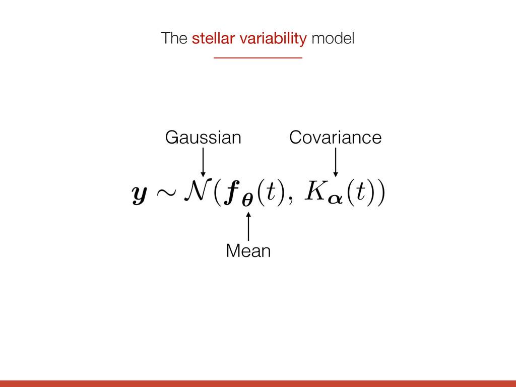 The stellar variability model y ⇠ N(f✓ (t), K↵(...