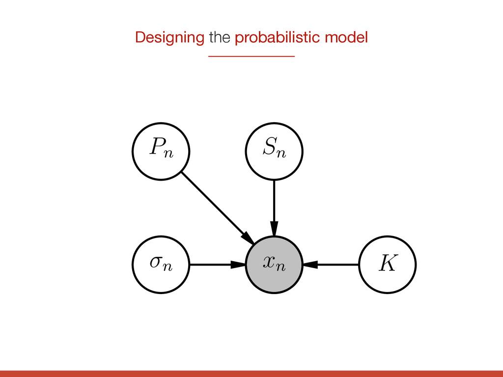 n Pn xn K Sn Designing the probabilistic model