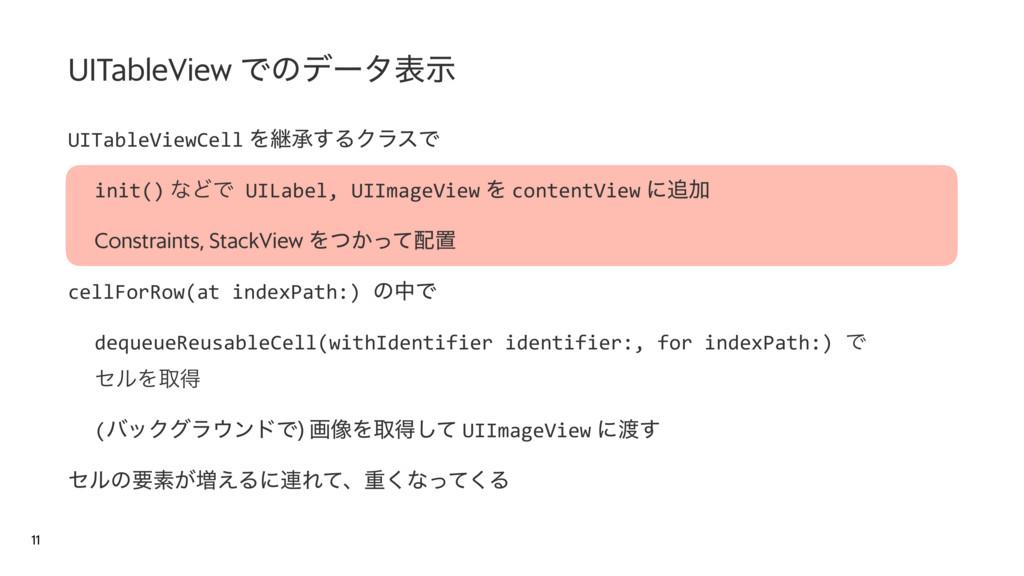 UITableViewCell Λܧঝ͢ΔΫϥεͰ init() ͳͲͰ UILabel, U...