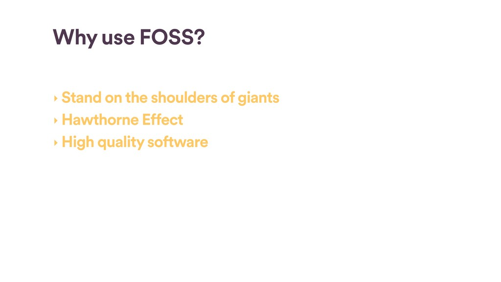 Incentives & Economics of FOSS: Why give back t...