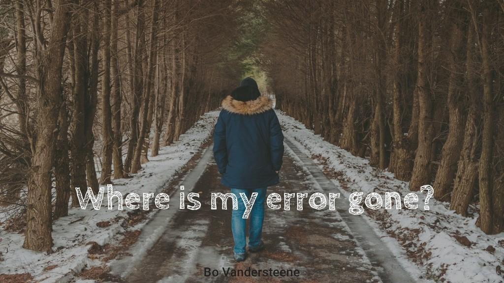 Where is my error gone? Bo Vandersteene