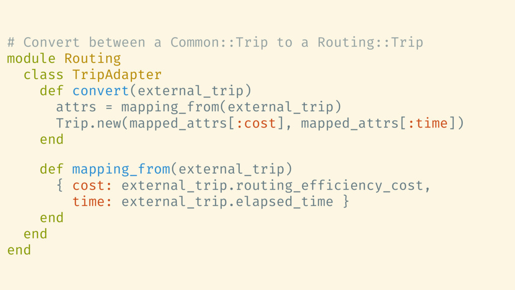 # Convert between a Common::Trip to a Routing::...