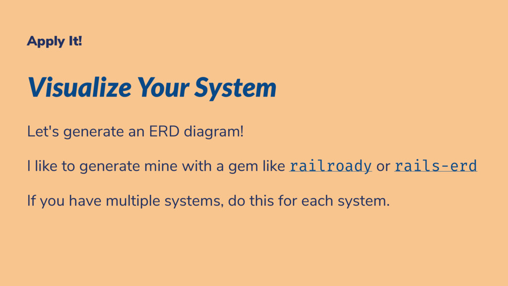 Apply It! Visualize Your System Let's generate ...
