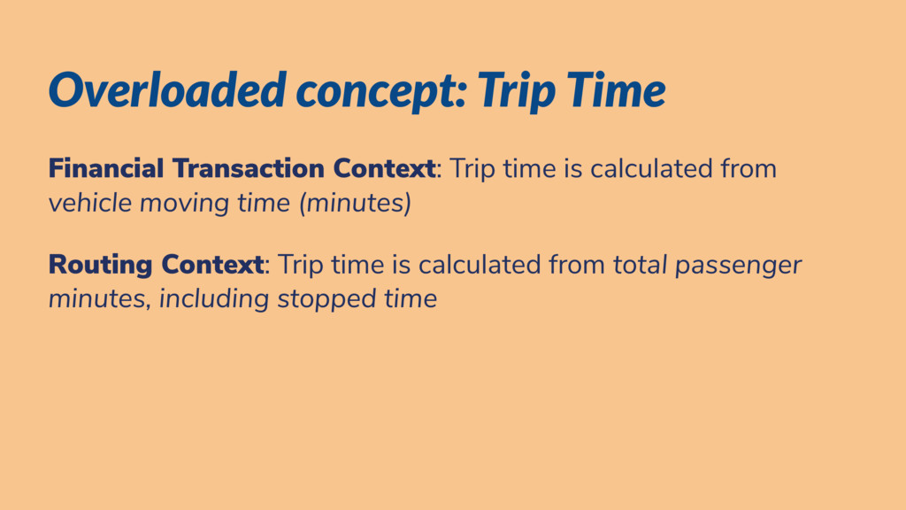Overloaded concept: Trip Time Financial Transac...