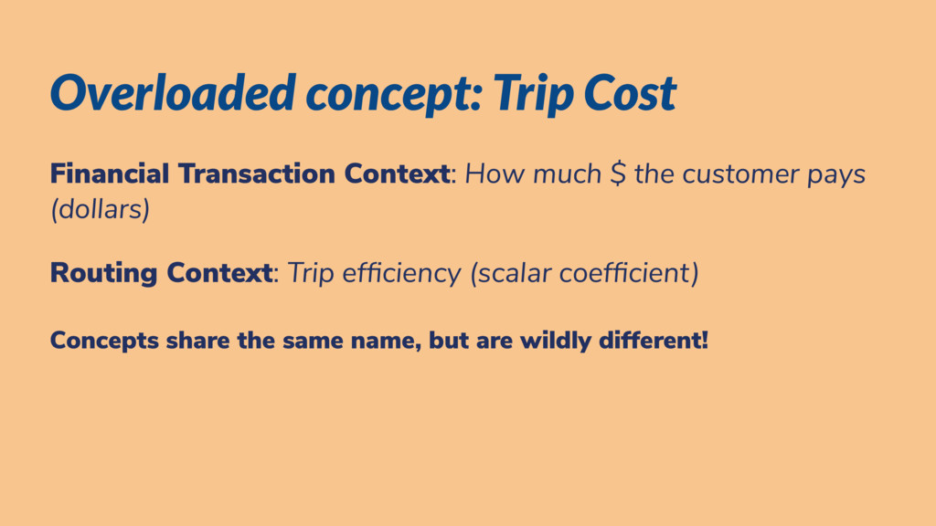 Overloaded concept: Trip Cost Financial Transac...