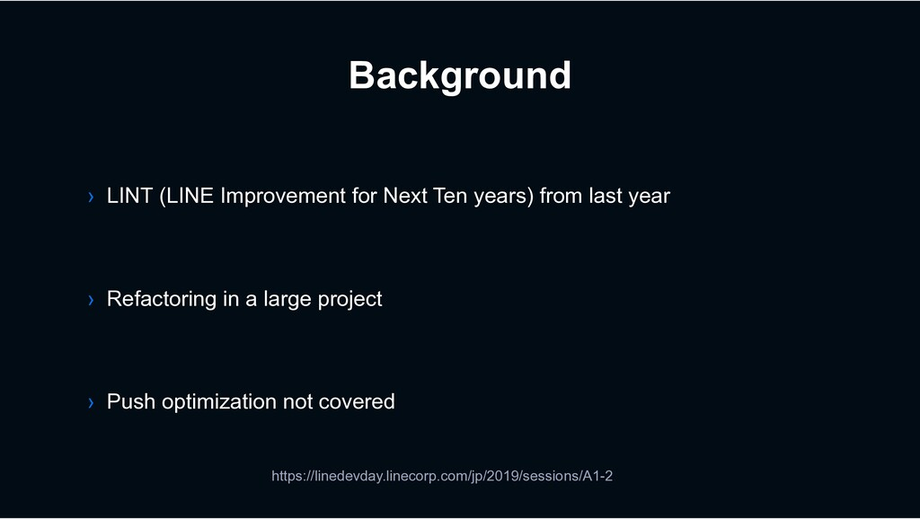 Background › Refactoring in a large project › L...