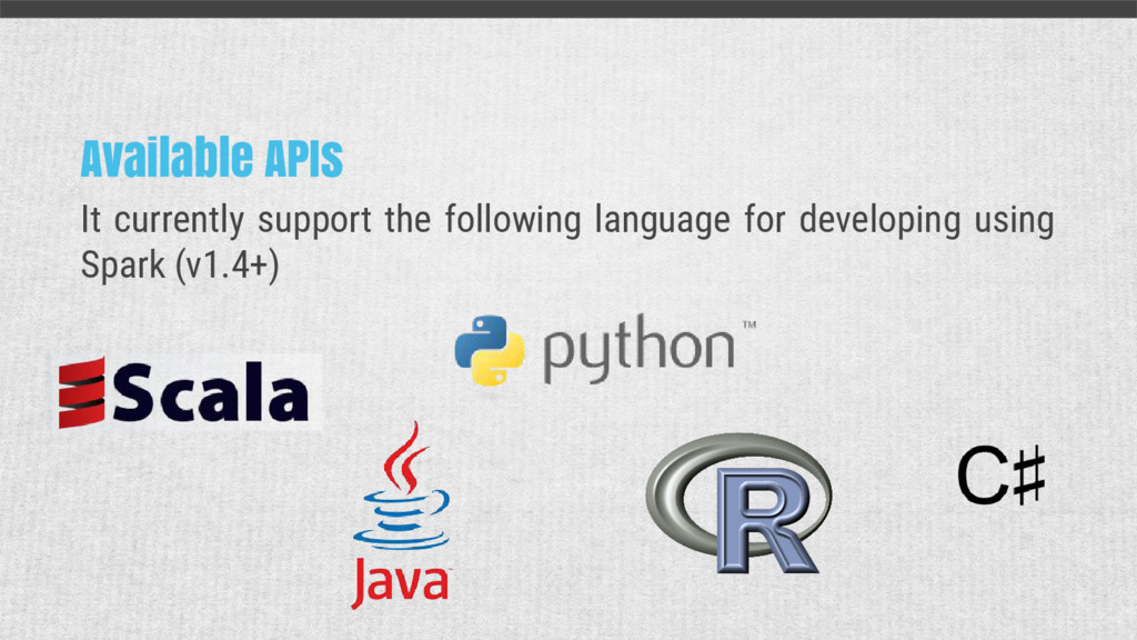Available APIs It currently support the followi...