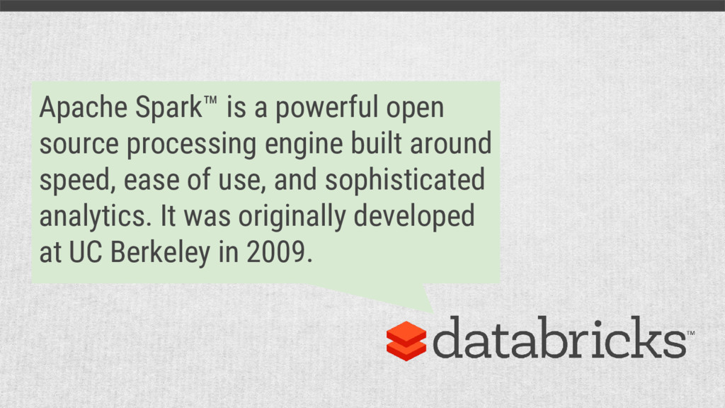 Apache Spark™ is a powerful open source process...