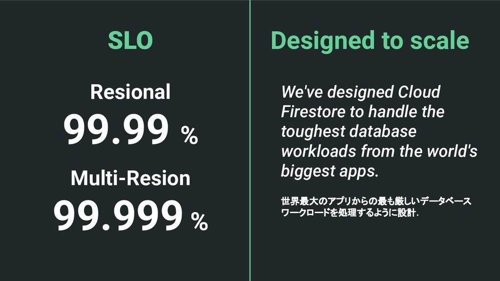 Resional 99.99 % Multi-Resion 99.999 % SLO Desi...