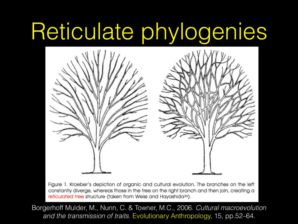 Reticulate phylogenies Borgerhoff Mulder, M., N...
