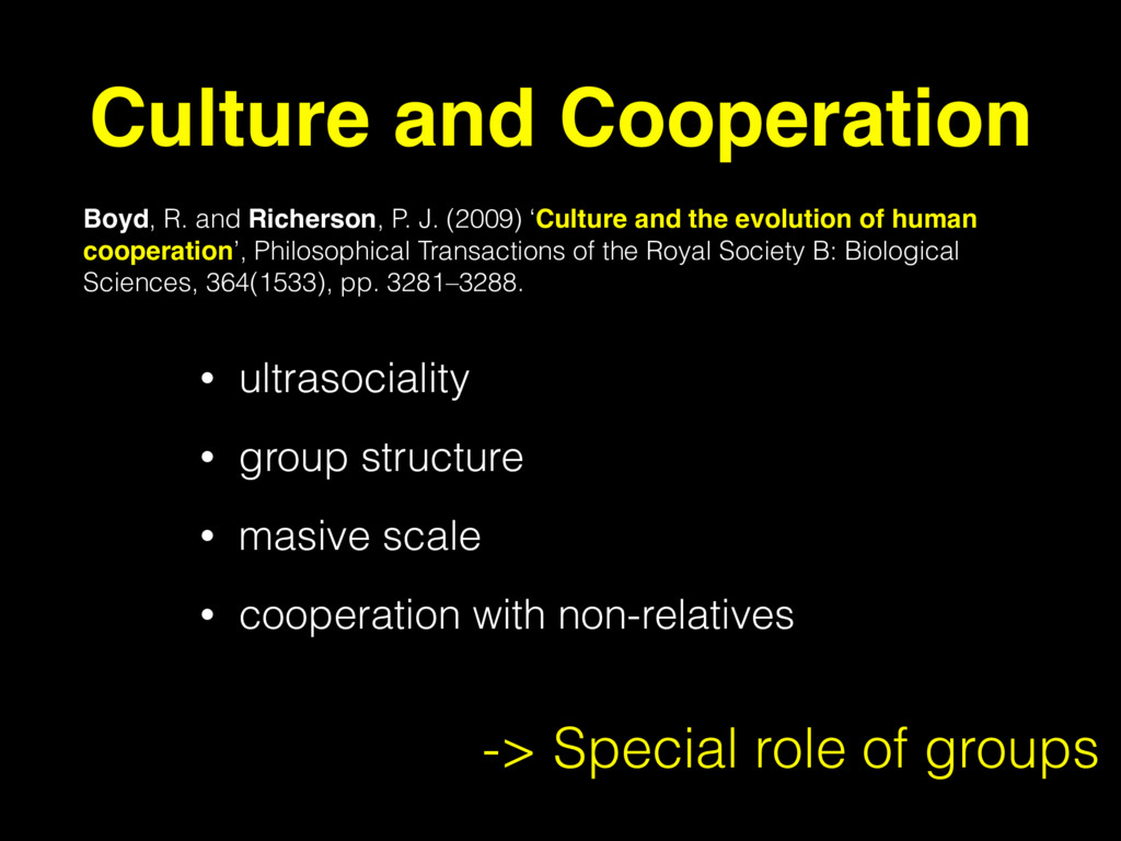 • ultrasociality • group structure • masive sca...
