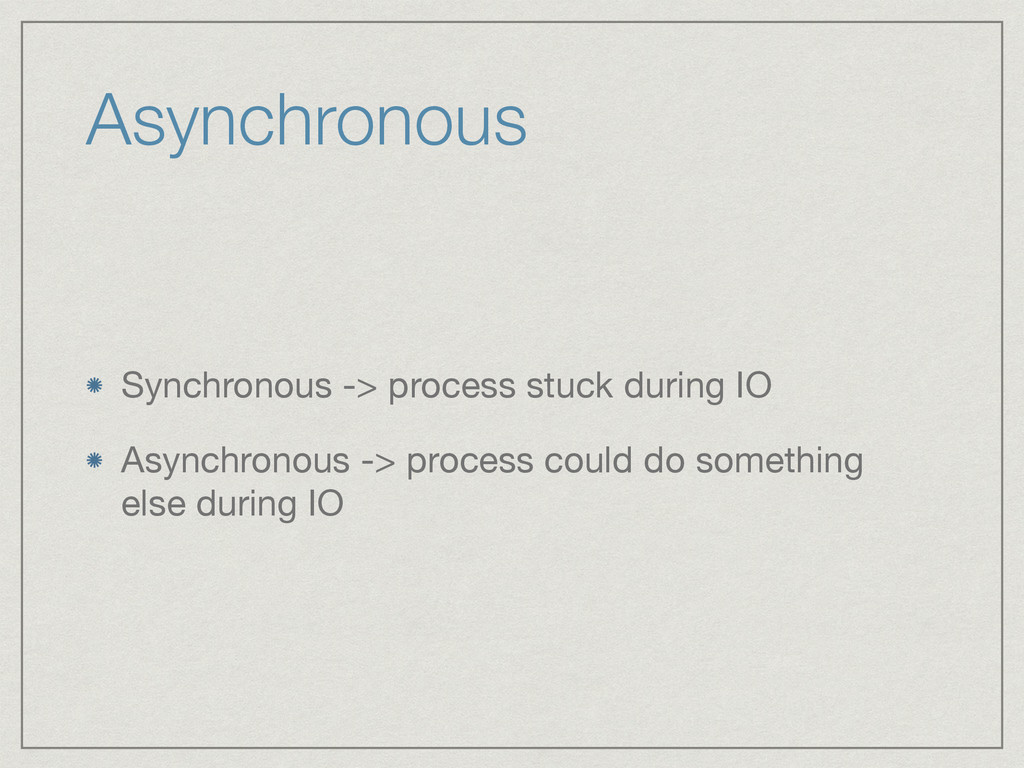 Asynchronous Synchronous -> process stuck durin...