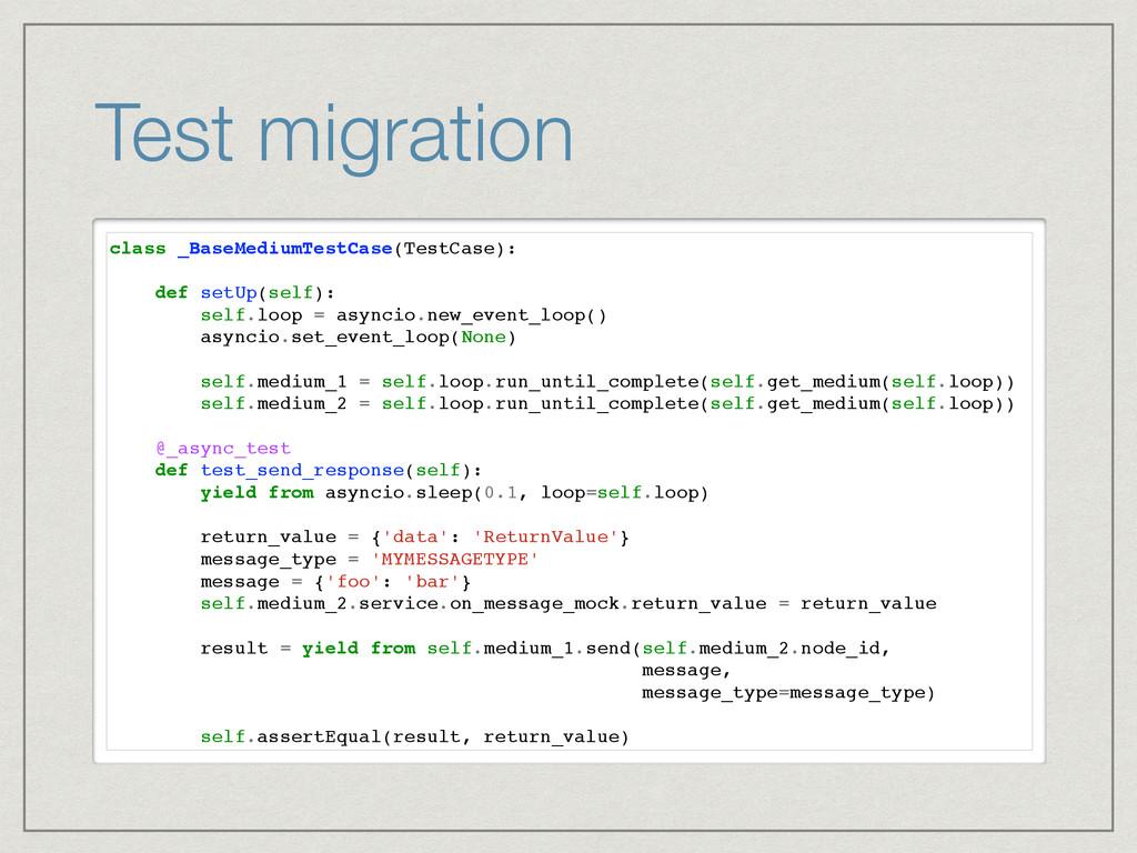 Test migration class _BaseMediumTestCase(TestCa...