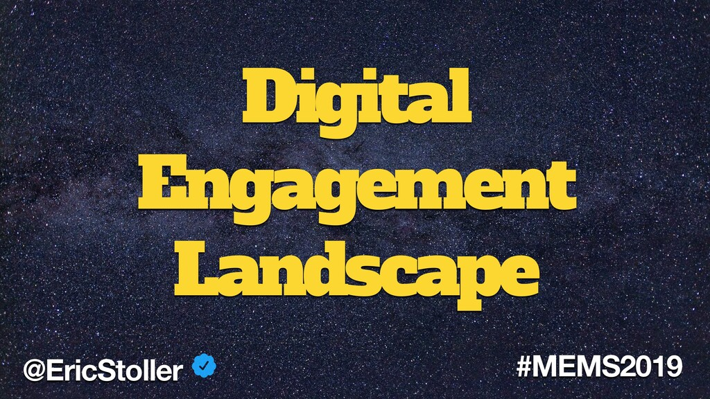 Digital Engagement Landscape @EricStoller #MEMS...