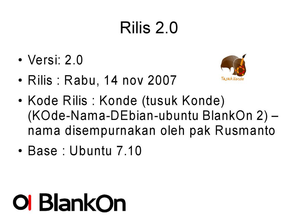 Rilis 2.0 ● Versi: 2.0 ● Rilis : Rabu, 14 nov 2...