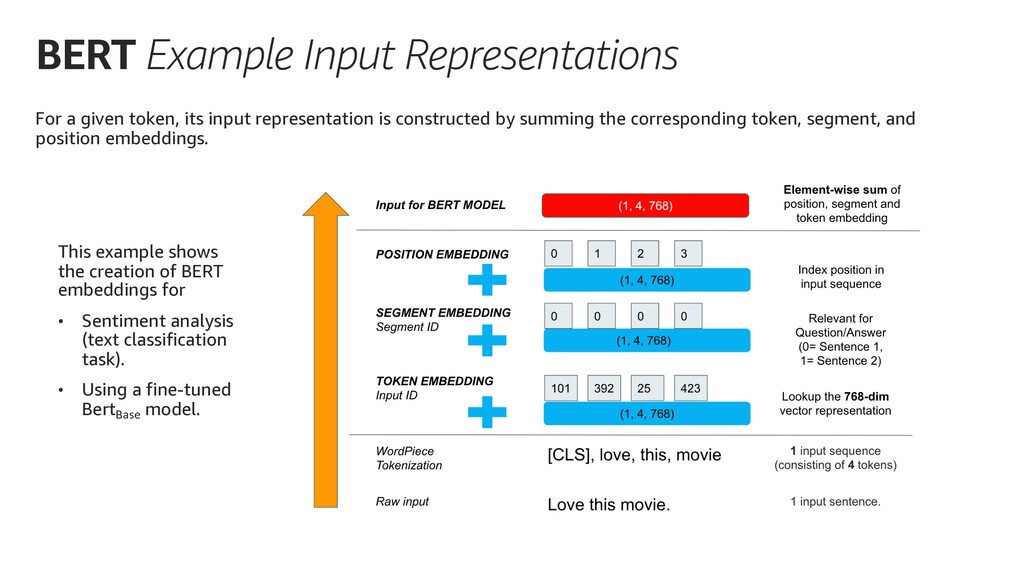 BERT Example Input Representations For a given ...