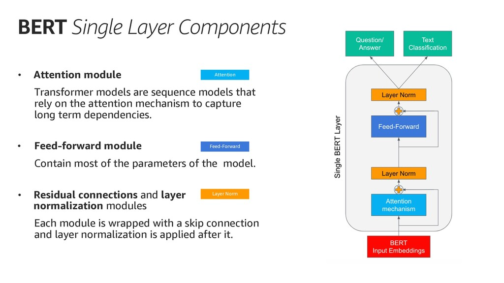 BERT Single Layer Components • Attention module...
