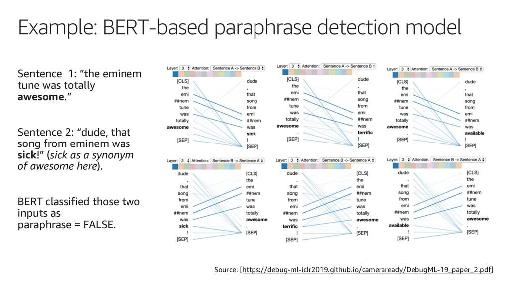 Example: BERT-based paraphrase detection model ...