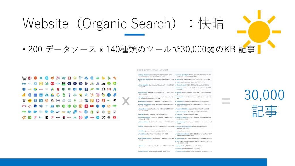 Website(Organic Search):快晴 • 200 データソース x 140種類...