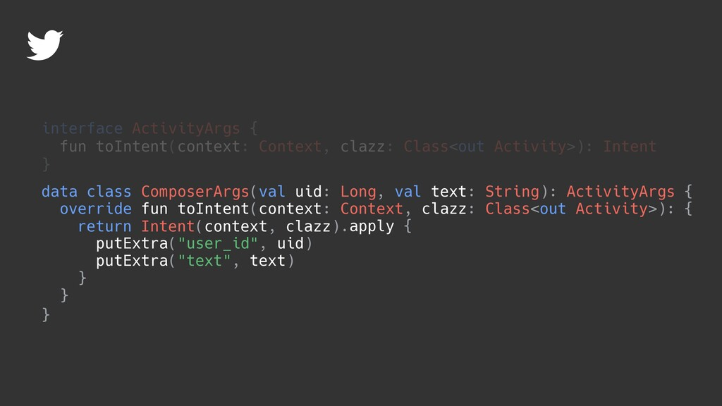 override fun toIntent(context: Context, clazz: ...
