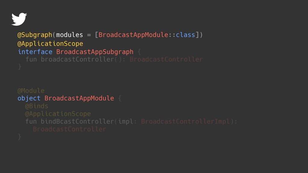 @ApplicationScope interface BroadcastAppSubgrap...
