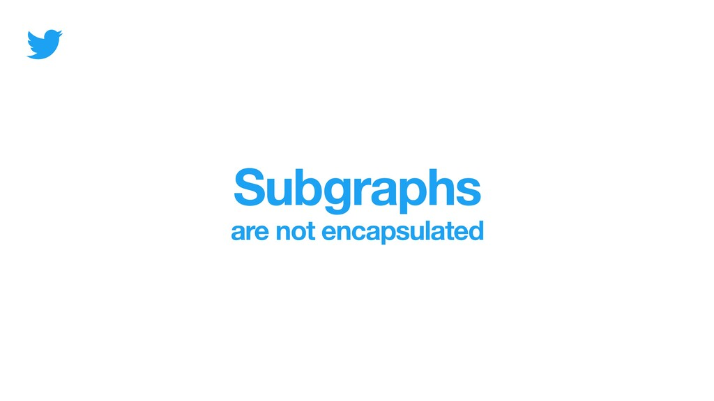 Subgraphs are not encapsulated