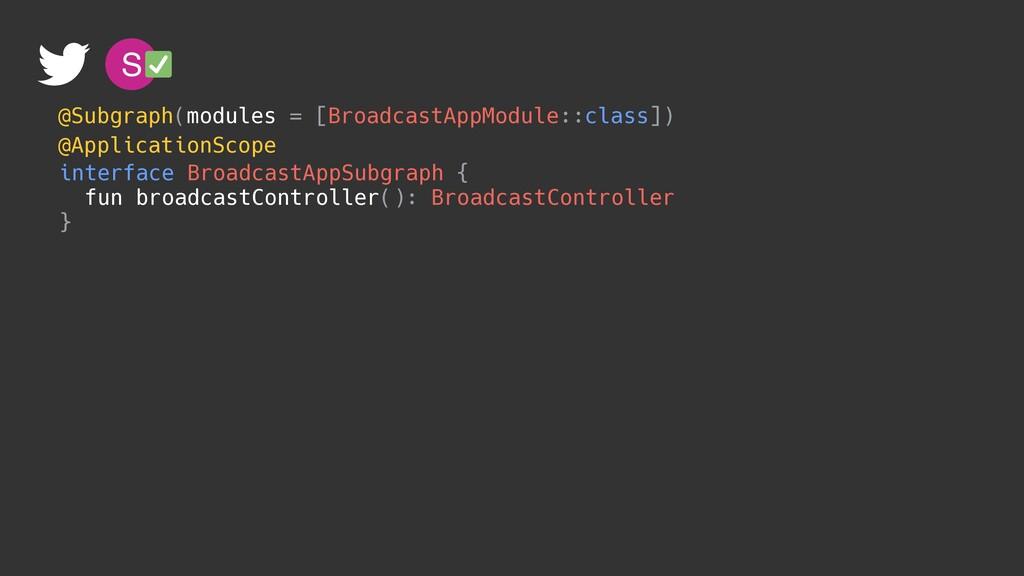 S @ApplicationScope interface BroadcastAppSubgr...