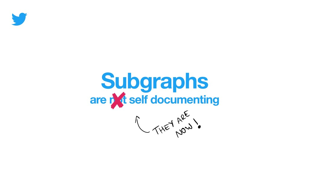 Subgraphs are not self documenting