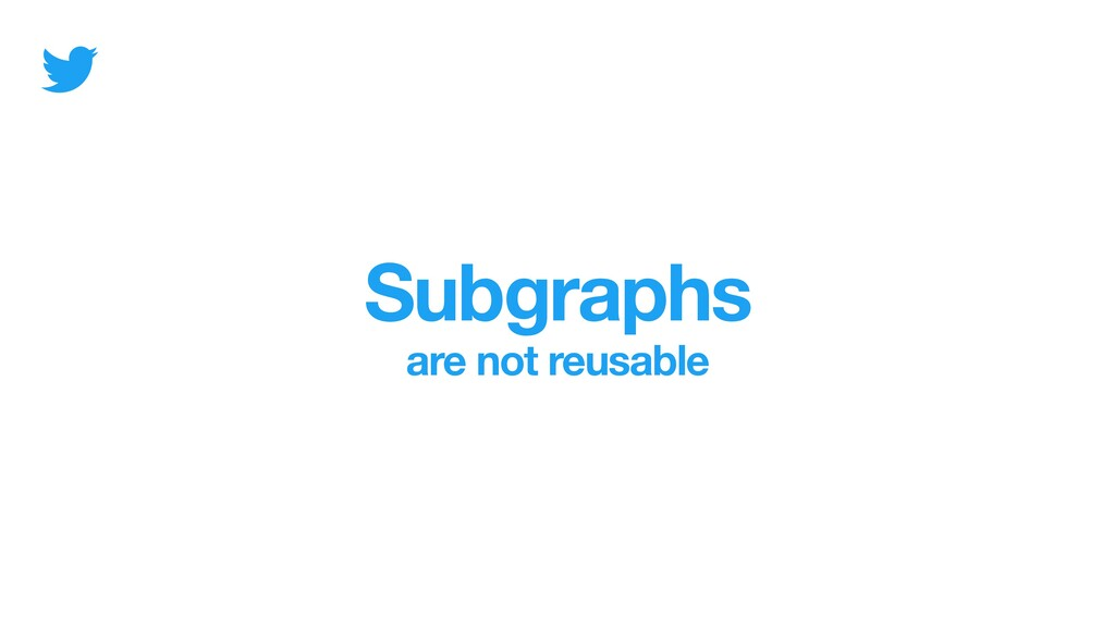 Subgraphs are not reusable