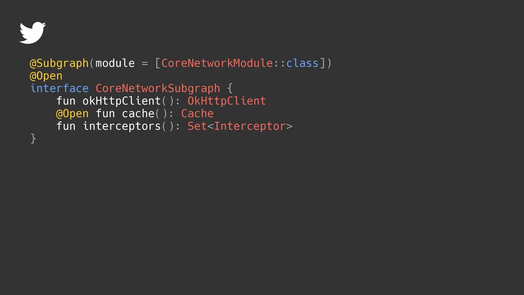 @Subgraph(module = [CoreNetworkModule::class]) ...