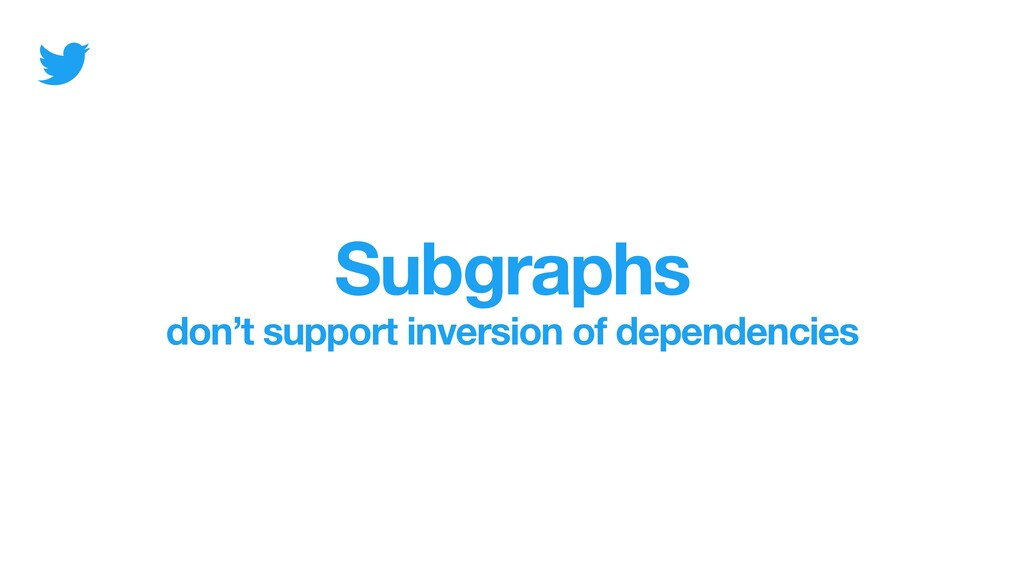 Subgraphs don't support inversion of dependenci...