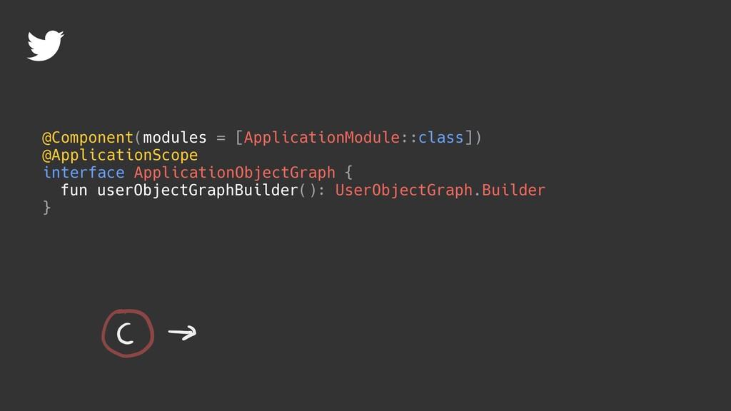 @Component(modules = [ApplicationModule::class]...